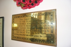 Plaque in Teigh Church