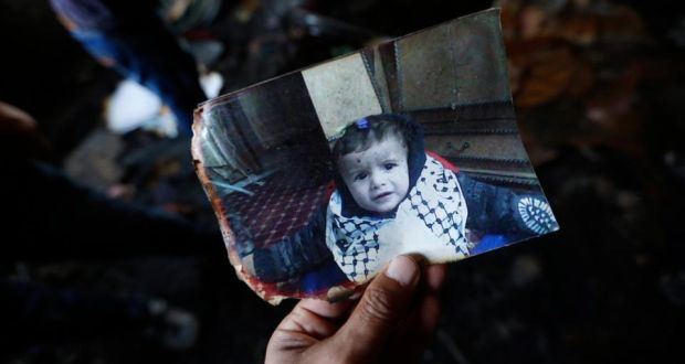 A photograph of 18-month-old Ali Dawabsheh who died in the attack. Irish Times